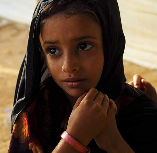 Shamha, a displaced Yemeni child, is recovering from malnutrition with the help of UNHCR