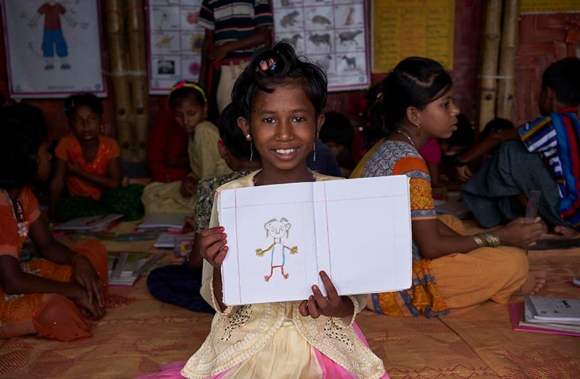 Rohingya children dream of education