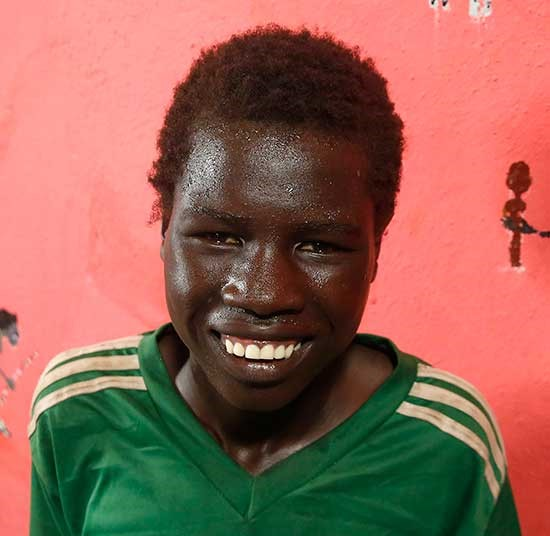 Koang GatBuom, 16, a South Sudanese refugee in the child friendly space in Kule refuee camp in Ethiopia's Gambella | Forgotten Childhoods appeal
