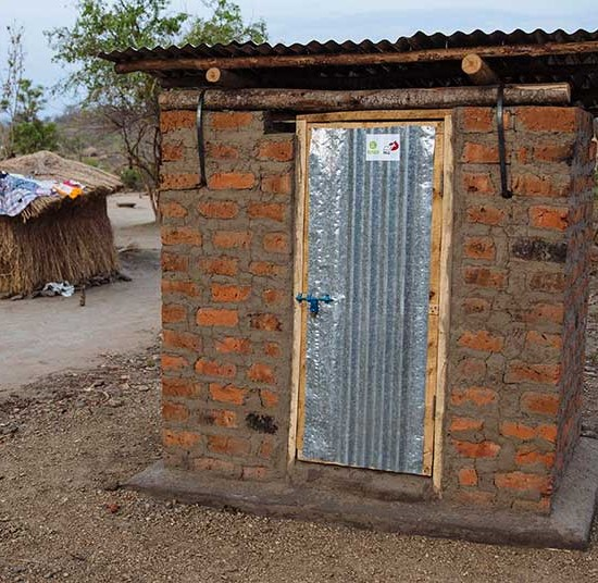 A household latrine | Clean water crisis appeal