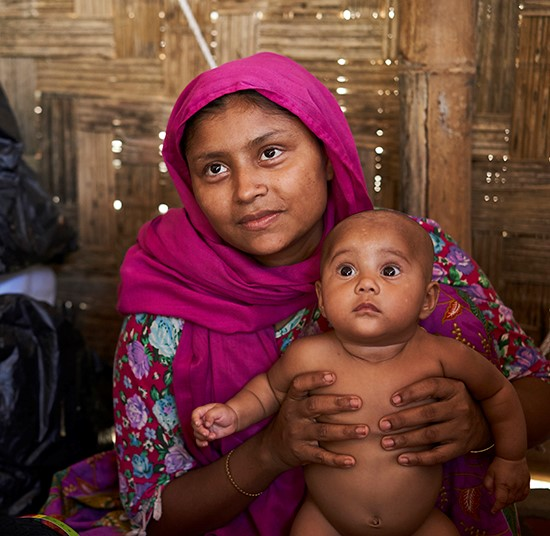 Women and girls ongoing care | Rohingya woman and baby