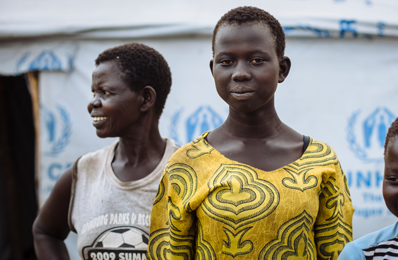 South Sudan Refugees - Teenage sisters