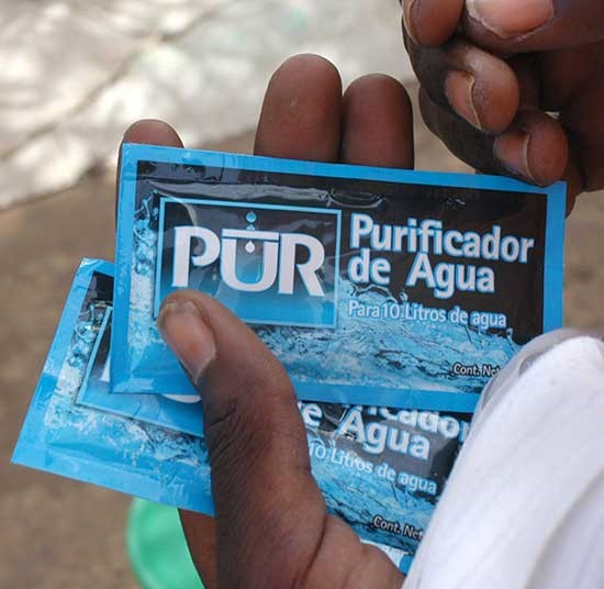 Water purification sachets | Clean water crisis appeal