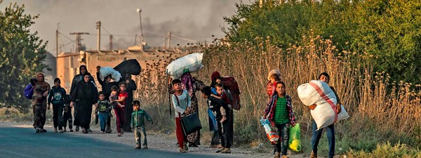 The situation in northeastern Syria is escalating and more Syrian people could be forced to leave everything behind
