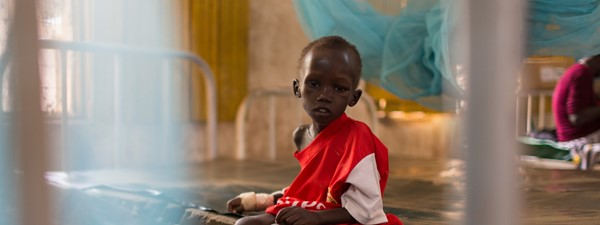 A small boy in Kakuma feeding centre | Hunger Crisis