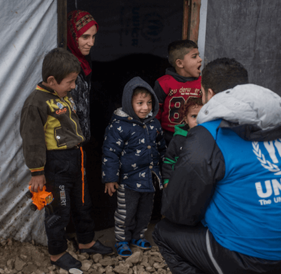 UNHCR worker visits family