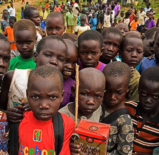 South Sudanese refugee children who were forced to flee conflict.  | South Sudan Emergency
