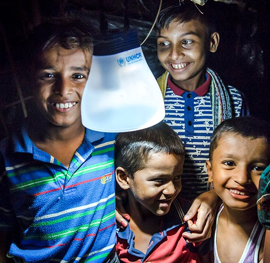 Children with solar lamp | Indonesia earthquake emergency